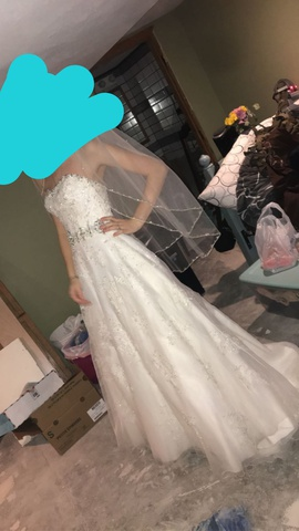 Mori Lee White Size 8 Wedding Ball gown on Queenly