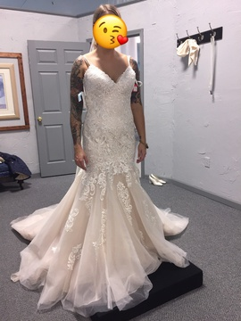 Mori Lee White Size 8 Corset Train Tall Height Mermaid Dress on Queenly
