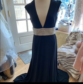 Queenly size 14 JVN By JOVANI  Black Straight evening gown/formal dress