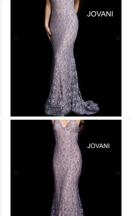 Jovani Blue Size 00 Short Height Train Dress on Queenly