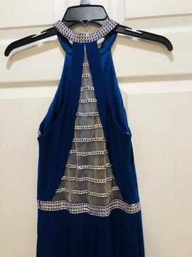 Madison James Blue Size 6 Side slit Dress on Queenly
