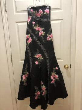 Tiffany Designs Black Size 8 Mermaid Dress on Queenly