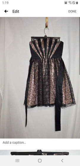 BCBG Max and Cleo Black Size 2 Lace Pink Cocktail Dress on Queenly