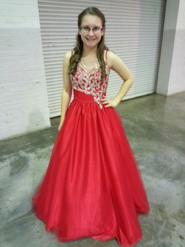 Mac Duggal Red Size 0 Corset Ball gown on Queenly
