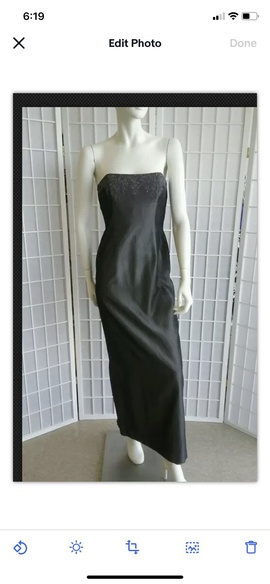 Queenly size 4  Silver Straight evening gown/formal dress