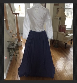 Adrianna Papell Blue Size 8 Ball gown on Queenly