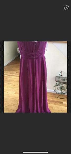 David Bridal Purple Size 12 Plus Size A-line Dress on Queenly
