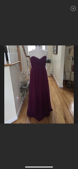 Queenly size 12 David Bridal Purple A-line evening gown/formal dress