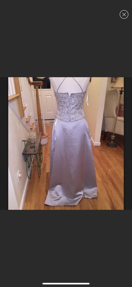 Mon Cheri Silver Size 8 A-line Dress on Queenly