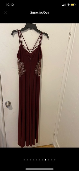 Red Size 2 Side slit Dress on Queenly
