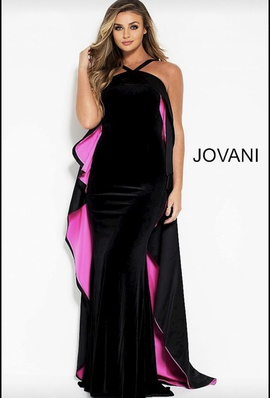 Jovani Multicolor Size 4 Hot Pink Straight Dress on Queenly