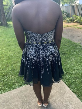 Sherri Hill Black Size 12 Homecoming Plus Size Cocktail Dress on Queenly
