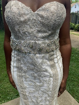 Mac Duggal White Size 16 Sweetheart Tall Height A-line Dress on Queenly