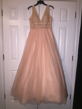Queenly size 12  Pink Ball gown evening gown/formal dress