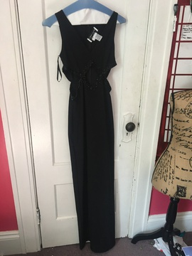Queenly size 2 Adrianna Papell Black Straight evening gown/formal dress