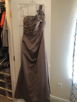 David's Bridal Nude Size 4 A-line Dress on Queenly