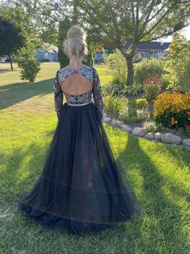 Rachel Allan Multicolor Size 6 Jewelled Train Romper/Jumpsuit Dress on Queenly