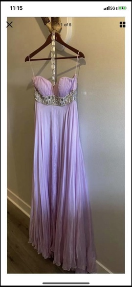 Queenly size 6 Sherri Hill Purple A-line evening gown/formal dress