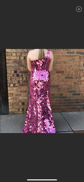 Sherri Hill Hot Pink Size 4 Straight Dress on Queenly
