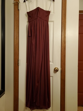 David's Bridal  Red Size 10 Prom Straight Dress on Queenly