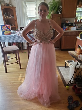 Queenly size 10 Sherri Hill  Pink Ball gown evening gown/formal dress