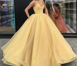 Queenly size 4  Yellow Ball gown evening gown/formal dress