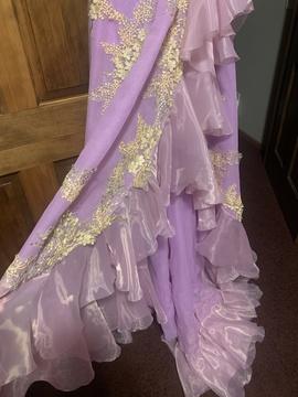 Purple Size 00 Side slit Dress on Queenly
