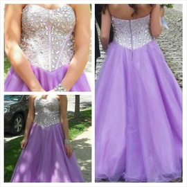 Queenly size 4  Purple Ball gown evening gown/formal dress