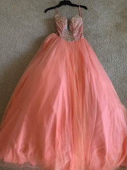 Queenly size 0 Terani Couture Pink Ball gown evening gown/formal dress