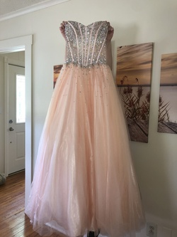 Jovani Pink Size 4 Corset Ball gown on Queenly