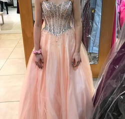 Jovani Pink Size 4 Quinceanera Ball gown on Queenly