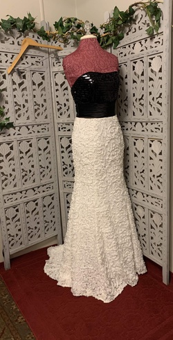 Queenly size 8 XTREME PROM White Ball gown evening gown/formal dress