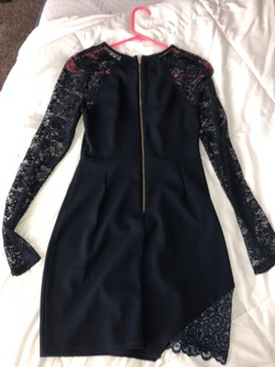 Honey and Rosie Blue Size 4 Navy Mini Cocktail Dress on Queenly