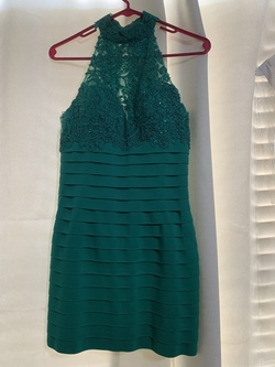 Queenly size 2 Sherri Hill Green Cocktail evening gown/formal dress