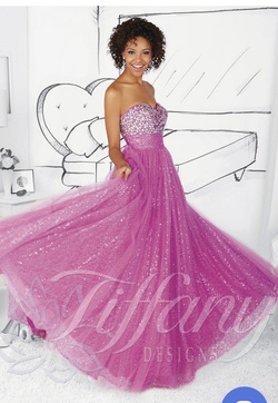 Queenly size 12 Tiffany Designs Purple Ball gown evening gown/formal dress