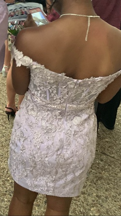Rachel Allan Light Purple Size 4 Mini Straight Dress on Queenly