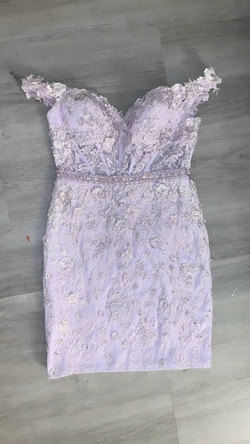 Queenly size 4 Rachel Allan Purple Straight evening gown/formal dress