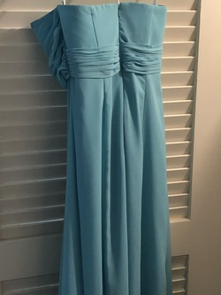 Davids Blue Size 2 Straight Dress on Queenly