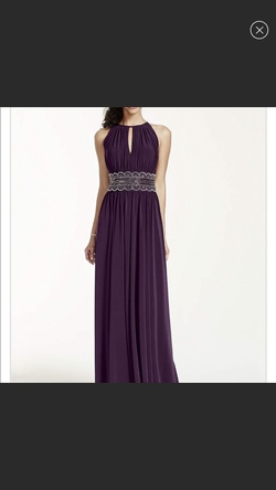 Queenly size 4  Purple Straight evening gown/formal dress