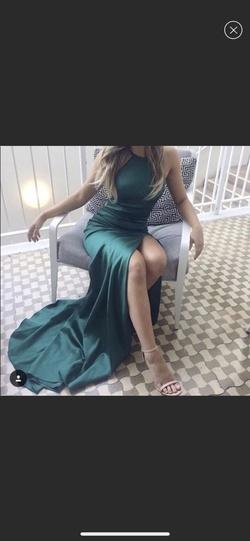Sherri Hill Green Size 6 Side slit Dress on Queenly