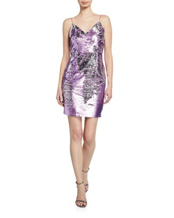 Aidan Multicolor Size 4 Mini V Neck Cocktail Dress on Queenly