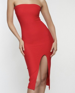 Size small medium or large colors red.many more Red Size 12 Plus Size Side slit Dress on Queenly