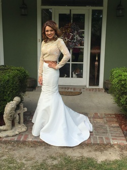 Sherri Hill White Size 0 Sleeves Backless Train Mermaid Dress on Queenly