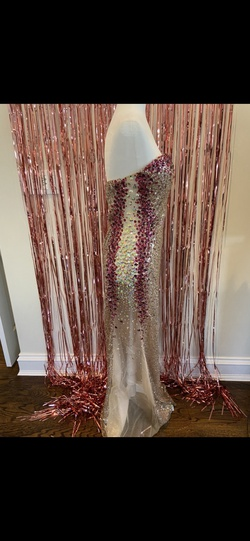 Alyce Paris Multicolor Size 8 Jewelled Sweetheart Straight Dress on Queenly