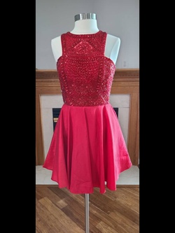Sherri Hill Red Size 16 Plus Size Cocktail Dress on Queenly