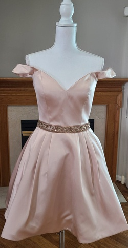 Queenly size 6 Jovani Nude Cocktail evening gown/formal dress