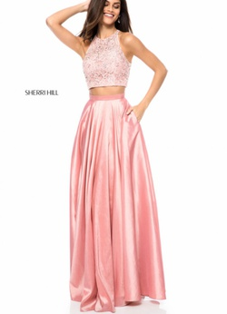 Sherri Hill Light Pink Size 6 Prom Two Piece Ball gown on Queenly