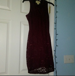 Queenly size 2 Wishful Perks Red A-line evening gown/formal dress