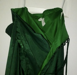 Green Size 4 Train Dress on Queenly