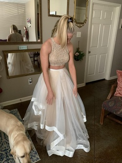 Terani Couture Nude Size 2 Train Tall Height Ball gown on Queenly